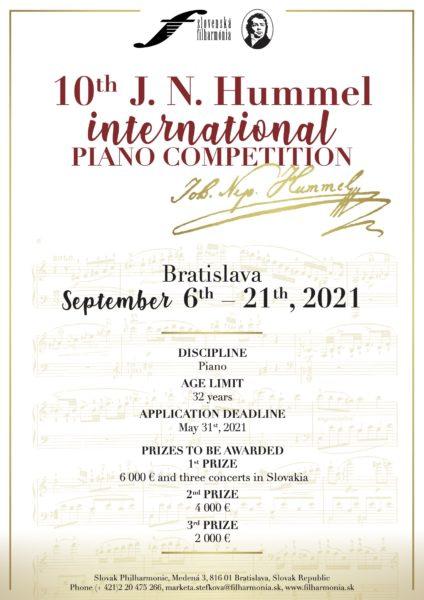 Johann Nepomuk Hummel International Piano Competition