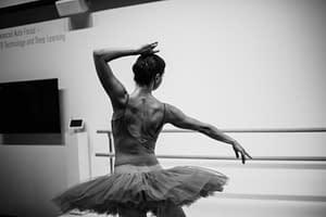 ballet dancer in training
